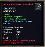 Arcane Vambraces of Survival