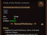 Cloak of the Master Armorer