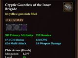 Cryptic Gauntlets of the Inner Brigade (0 Gem)