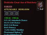 Drakizite Great Axe of Butchery