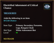 Electrified Adornment of Critical Chance