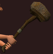 Imbued Iron Maul (Equipped)
