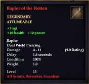 Rapier of the Rotten