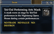 Teir'Dal Performing Arts Mask