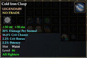 Cold Iron Clasp
