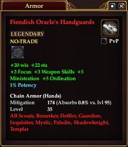 Fiendish Oracle's Handguards