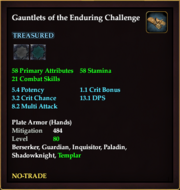 Gauntlets of the Enduring Challenge