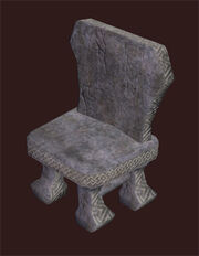 Hewn-stone-chair