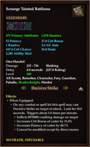 Scourge Tainted Battleaxe