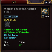 Weapon Belt of the Flaming Blade