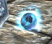 A zinc orb