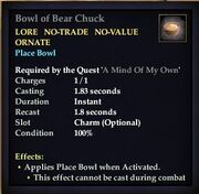 Bowl of Bear Chuck