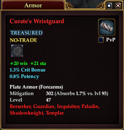 Curate's Wristguard
