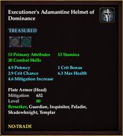 Executioner's Adamantine Helmet of Dominance