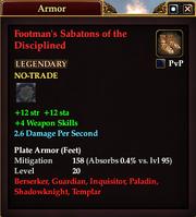 Footman's Sabatons of the Disciplined