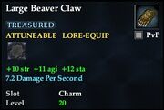 Large Beaver Claw