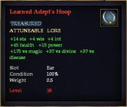 Learned Adept's Hoop