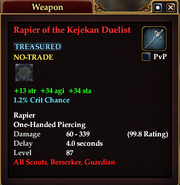 Rapier of the Kejekan Duelist