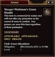 Vessp Workman Green Mantle