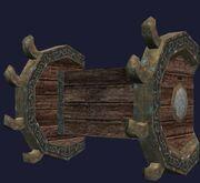 Wall mounted Halasian weapon rack (Visible)