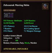 Zebuxoruk Warring Helm