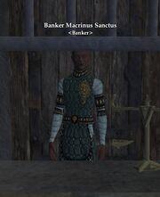 Banker Macrinus Sanctus