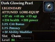 Dark Glowing Pearl