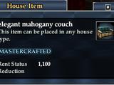 Elegant mahogany couch