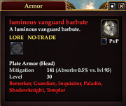 Luminous vanguard barbute