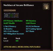 Necklace of Arcane Brilliance