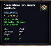 Abominations Runebraided Wristband