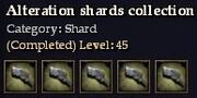 CQ shard alteration Journal