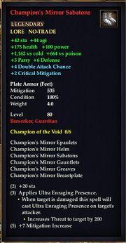 Champion's Mirror Sabatons