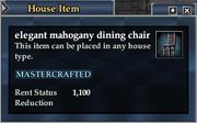 Elegant mahogany dining chair