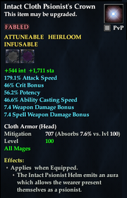 Intact Cloth Psionist's Crown
