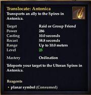 Translocate Antonica