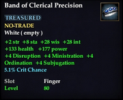 Band of Clerical Precision