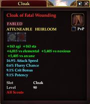 Cloak of Fatal Wounding
