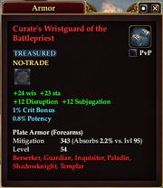 Curate's Wristguard of the Battlepriest
