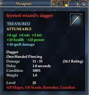 Feysteel wizard's dagger