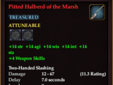 Pitted Halberd of the Marsh