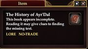 The History of Ayr'Dal (Quest Starter)