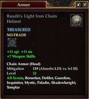 Bandit's Light Iron Chain Helmet