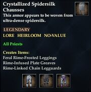 Crystallized Spidersilk Chausses