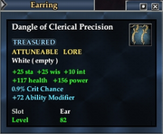 Dangle of Clerical Precision