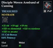 Disciple Woven Armband of Cunning