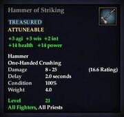 Hammer of Striking