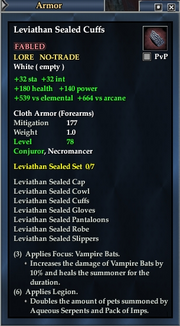 Leviathan Sealed Cuffs