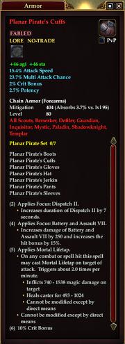 Planar Pirate's Cuffs