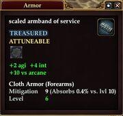 Scaled armband of service